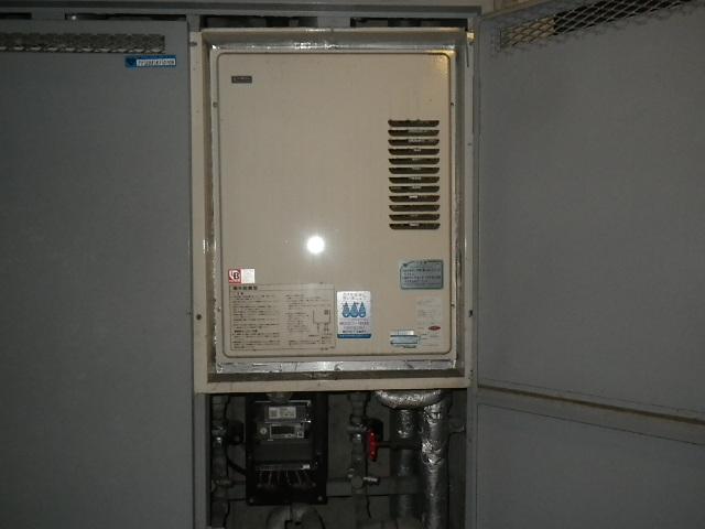 神戸市東灘区御影石町 マンション リンナイ 16号ガス給湯器 取替交換工事施工 日立KS-1610H から RUX-VS1616UA-E