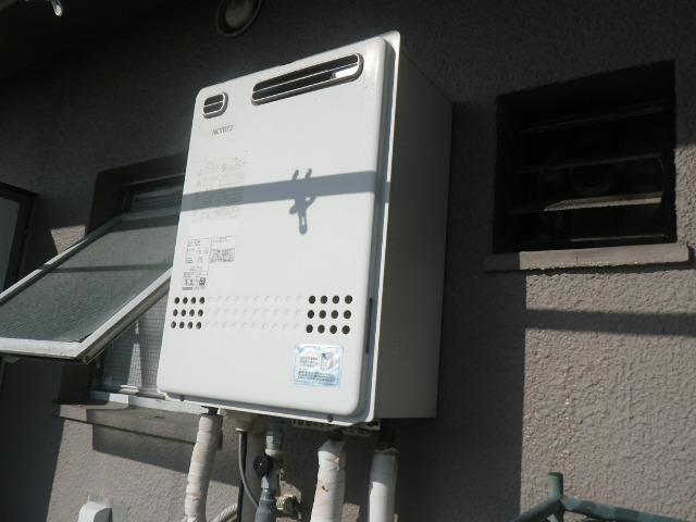 神戸市東灘区深江南町マンション ノーリツ16号ガス追炊き付給湯器 取替交換工事施工 GT-1627SAWX から GT-1660SAWX-1 BL