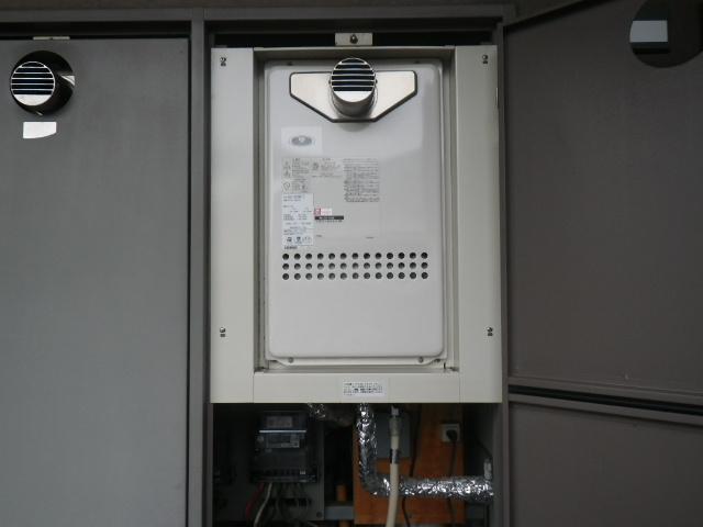 神戸市東灘区本庄町マンション ノーリツ16号ガス給湯器 取替交換工事施工 大阪ガス 34-336 GQ-1610WE-T から GQ-1639WS-T-1