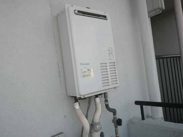 尼崎市上大市マンション ノーリツ16号ガス給湯器 取替交換工事施工 パロマPH-16LX から GQ-1639WS-1