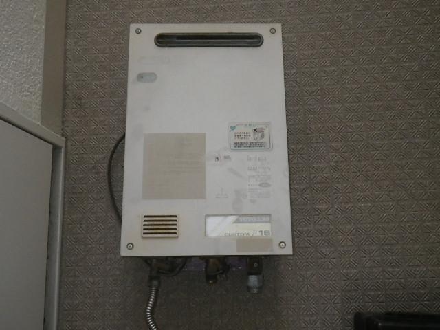 西宮市甲子園 マンション ノーリツ16号ガス給湯器 取替交換工事施工 TOTO から GQ-1639WS-1