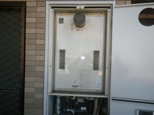 大阪市西淀川区マンション ノーリツ24号ガス給湯器 高温水供給式 取替交換工事施工 大阪ガス44-626 から GQ-2427AWX-T-DX BL