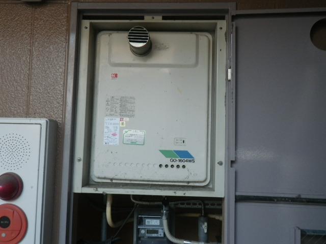 尼崎市若王寺マンション ノーリツ16号ガス給湯器 取替交換工事施工 GQ-1604WS-TA-1 から GQ-1639WS-T-1