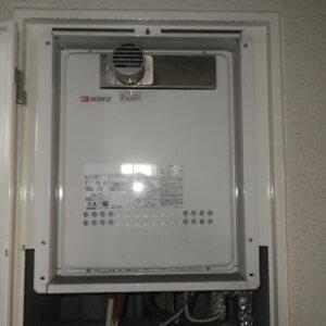 神戸市灘区城内通マンション ノーリツ16号ガスふろ給湯器 取替交換工事施工 GT-1614SAWS-TA から GT-1635SAWXS-80T-1