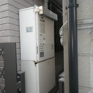 尼崎市西桜木町 戸建住宅 ノーリツ24号ガスふろ給湯器 取替交換工事施工 GT-2422AWX から GT-2460AWX-1 BL