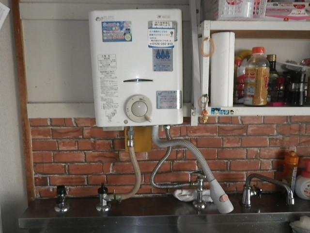 神戸市東灘区青木 団地 ノーリツ5号小型湯沸し器 取替交換工事施工 大阪ガス から GQ-531MW