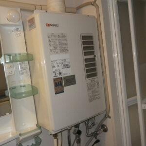 神戸市東灘区住吉山手マンション ノーリツ16号ガス給湯器 屋内設置 取替交換工事施工 ノーリツGT-1624SAWXS-F-1 から GQ-1637WSD-F-1