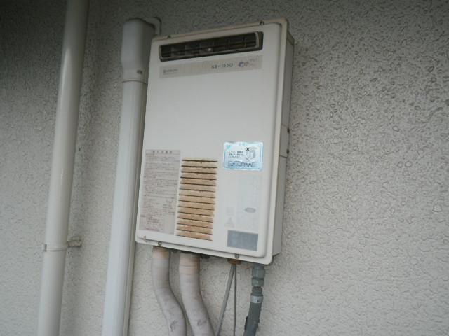 神戸市東灘区御影石町マンション ノーリツ16号ガス給湯器 取替交換工事施工 日立ハウステック KS-1660 から GQ-1639WS-1