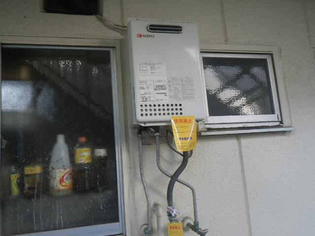 尼崎市東難波町マンション 16号ノーリツガス給湯器 取替交換工事施工 GQ-1637WE から GQ-1639WS-1