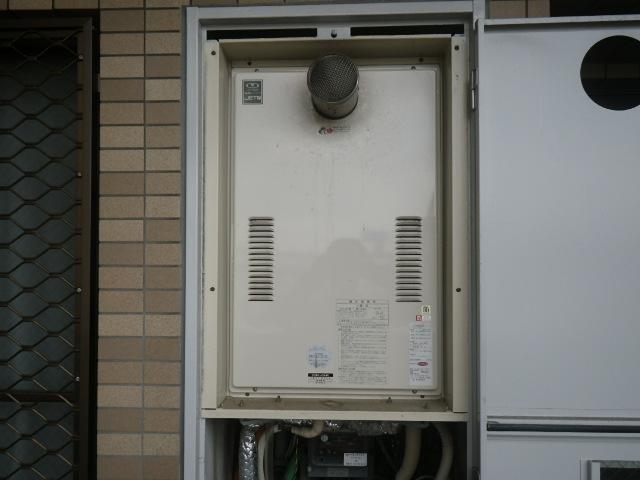 大阪市西淀川区マンション ノーリツ24号ガス給湯器 取替交換工事施工 大阪ガス44-626 から GQ-2427AWX-T-DX BL
