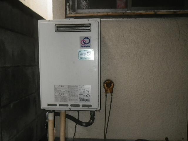 尼崎市上之島 戸建住宅 ノーリツ16号ガス給湯器 取替交換工事施工 パーパス から GQ-1639WS-1