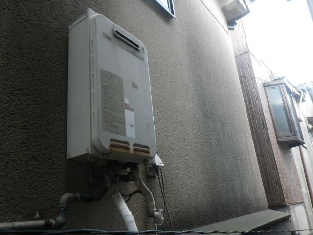 尼崎市神田南通 戸建住宅 ノーリツ16号ガス給湯器 取替交換工事施工 大阪ガス33-740 から GQ-1639WS-1