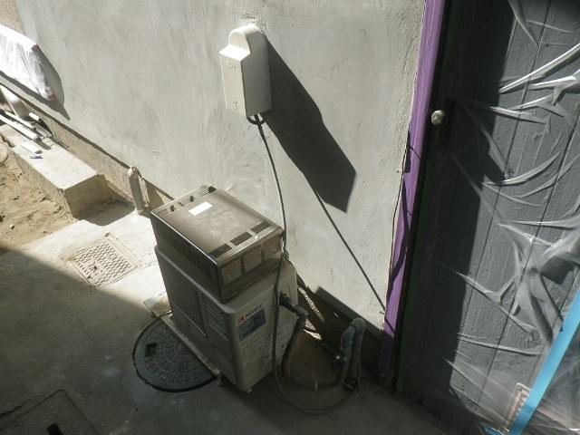 尼崎市武庫町 戸建住宅 ノーリツ ガス風呂釜 電池点火式 取替交換工事施工 GSY-132D