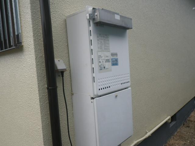 三田市すずかけ台 戸建住宅 ノーリツ24号ガスふろ給湯器 取替交換工事施工 GT-2428SAWX から GT-2460SAWX-1 BL