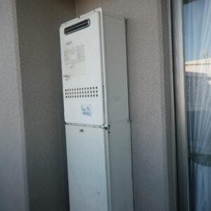尼崎市水堂町マンション ノーリツ24号ガス給湯器 高温差し湯 取替交換工事施工 GQ-2414AW から GQ-2427AWX-DX BL
