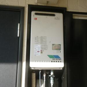 西宮市広田町 ハイツ リンナイ16号BOX内設置型 取替交換工事施工 GQ-167WS から リンナイRUK-V1610BOX-E