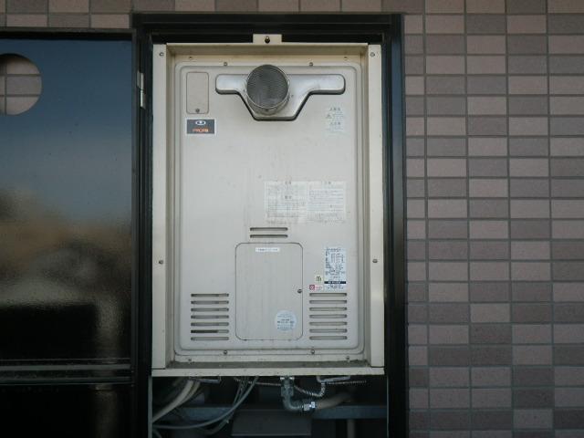 尼崎市尾浜町マンション リンナイ24号ガスふろ給湯器 取替交換工事施工 大阪ガス44-606 から RUF-A2405SAT-L(B)