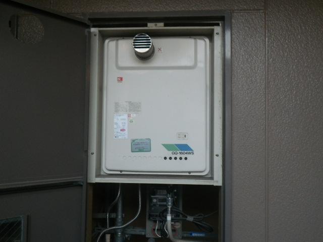 西宮市上ヶ原ハイツ ノーリツガス給湯器16号 取替交換工事施工 GQ-1604WS-TA-1 から GQ-1639WS-T-1