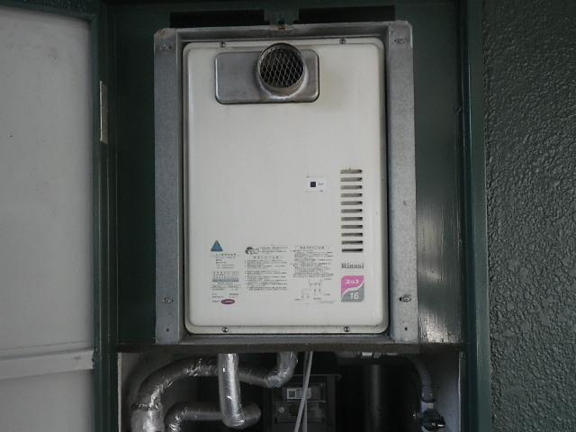 神戸市兵庫区塚本通マンション ノーリツ16号ガス給湯器 取替交換工事施工 リンナイRUX-1611PSOT-E から GQ-1639WS-T-1