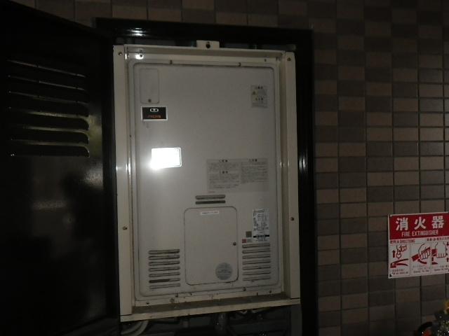 尼崎市尾浜町マンション リンナイ24号ガスふろ給湯器 取替交換工事施工 大阪ガス44-608 RUFH-2405SAB2-3 から RUF-A2405SAB(B)