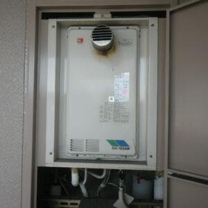兵庫県神戸市東灘区本庄町マンション ノーリツ16号ガス給湯器 高温水供給式 取替交換工事施工 GQ-162AWX-T から GQ-1626AWX-60T-DX BL