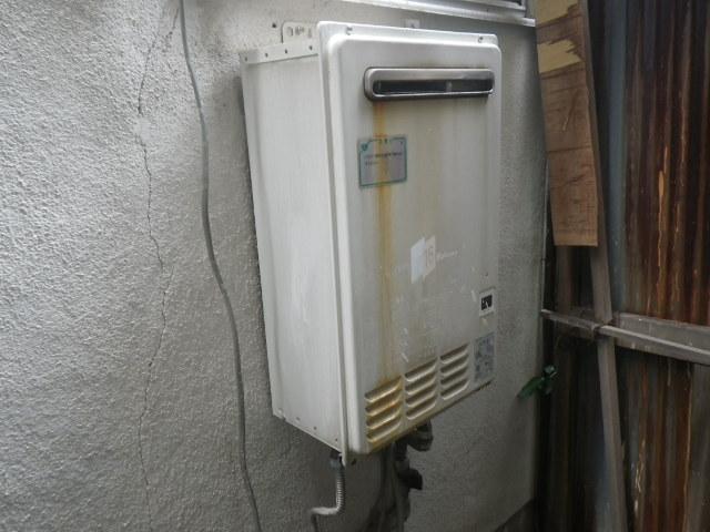 西宮市若草町 戸建住宅 ノーリツ16号ガス給湯器 取替交換工事施工 パロマPH-161CW から GQ-1639WS-1