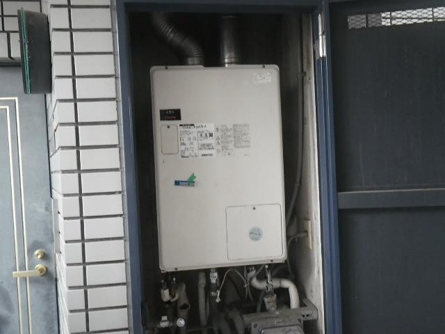 大阪府茨木市大住町マンション ノーリツ24号ガスふろ給湯器屋内設置強制給排気から大阪ガス 屋内式給湯暖房機 135-N068 GTH-2434AWXD-SFF から GT-2451AWX-FF-2