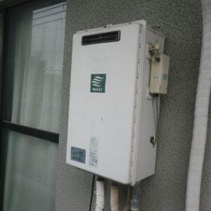 西宮市段上町マンション リンナイ16号ガスふろ給湯器 電波リモコン 取替交換工事施工 ナショナルGJ-C20T2からRUF-A1615SAW(B)