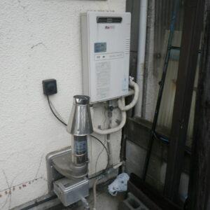 尼崎市久々知戸建住宅 ノーリツ16号ガス追炊き付給湯器 取替交換工事施工 大阪ガス33-843 31-182 から GT-1660SAWX-2 BL
